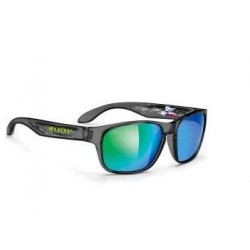 OKULARY RUDY PROJECT SENSOR ICE BLACK MLS GREEN
