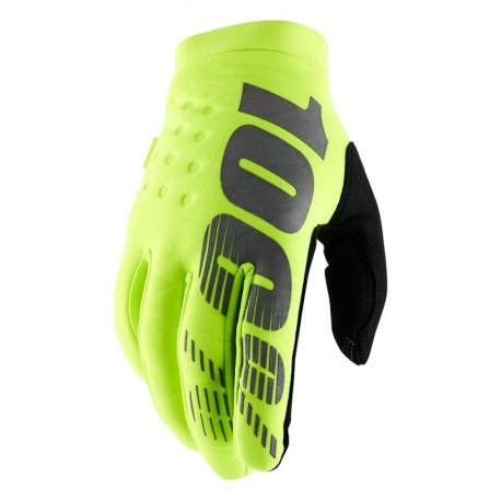 Rękawiczki BRISKER 100% fluo yellow
