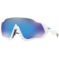 Oakley Flight Jacket - Polished White - Prizm Sapphire Iridium