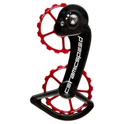 Wózek CeramicSpeed OSPW Shimano 10-11 Black-Red Coated